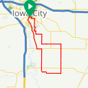 Map image of a Route from May 21, 2018