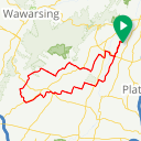 Map image of a Route from May 23, 2018
