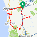 Map image of a Route from May 25, 2018