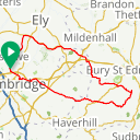 Map image of a Route from May 26, 2018