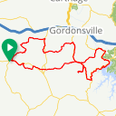 Map image of a Route from May 29, 2018