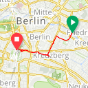 Map image of a Route from June  2, 2018