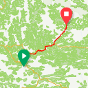 Map image of a Route from June  4, 2018