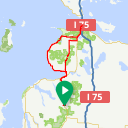 Map image of a Route from June  5, 2018