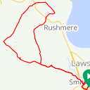 Map image of a Route from June  7, 2018