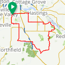 Map image of a Route from June  8, 2018