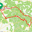 Map image of a Route from June 17, 2018