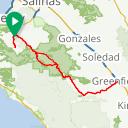 Map image of a Route from June 18, 2018