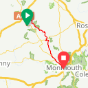 Map image of a Route from July  1, 2018