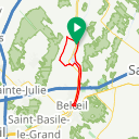 Map image of a Route from July  7, 2018