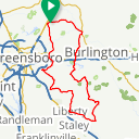 Map image of a Route from July 12, 2018