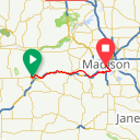 Map image of a Route from July 16, 2018