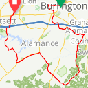 Map image of a Route from July 20, 2018