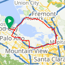 Map image of a Route from July 23, 2018