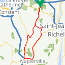 Map image of a Route from July 25, 2018