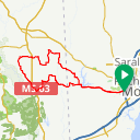 Map image of a Route from July 27, 2018