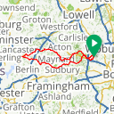 Map image of a Route from July  6, 2013
