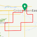 Map image of a Route from July 28, 2018