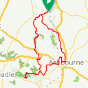 Map image of a Route from July 29, 2018
