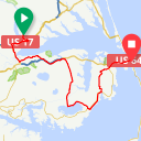 Map image of a Route from August  1, 2018