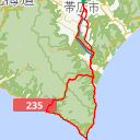 Map image of a Route from August  2, 2018