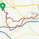 Map image of a Route from August  3, 2018
