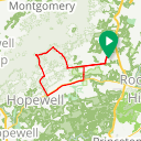 Map image of a Route from August  4, 2018