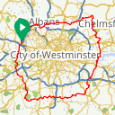 Map image of a Route from August  5, 2018