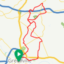 Map image of a Route from August  7, 2018