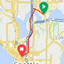 Map image of a Route from August  8, 2018