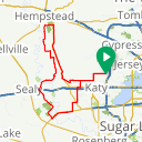 Map image of a Route from August  9, 2018