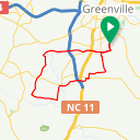 Map image of a Route from August 10, 2018