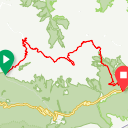 Map image of a Route from August 11, 2018