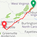 Map image of a Route from August 14, 2018