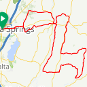 Map image of a Route from August 17, 2018