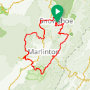 Map image of a Route from August 19, 2018