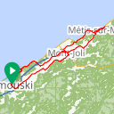 Map image of a Route from August 21, 2018