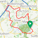 Map image of a Route from August 23, 2018