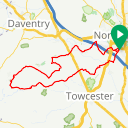 Map image of a Route from August 25, 2018