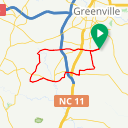 Map image of a Route from August 27, 2018