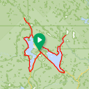 Map image of a Route from August 28, 2018