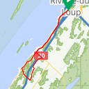 Map image of a Route from August 30, 2018