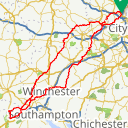 Map image of a Route from August 31, 2018