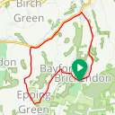 Map image of a Route from September  7, 2018