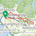 Map image of a Route from September  9, 2018