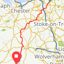 Map image of a Route from September 22, 2018