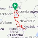 Map image of a Route from September 25, 2018