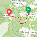 Map image of a Route from September 26, 2018