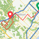 Map image of a Route from September 28, 2018