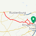 Map image of a Route from October  1, 2018